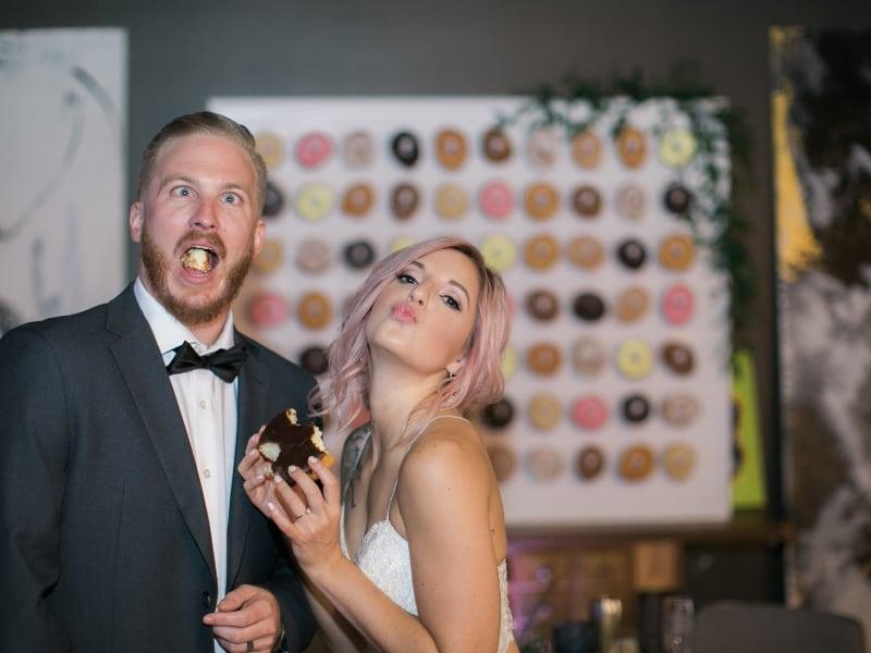 Artsy, Edgy, Bohemian Pub Station Wedding. Meet Melisa and Bryce.