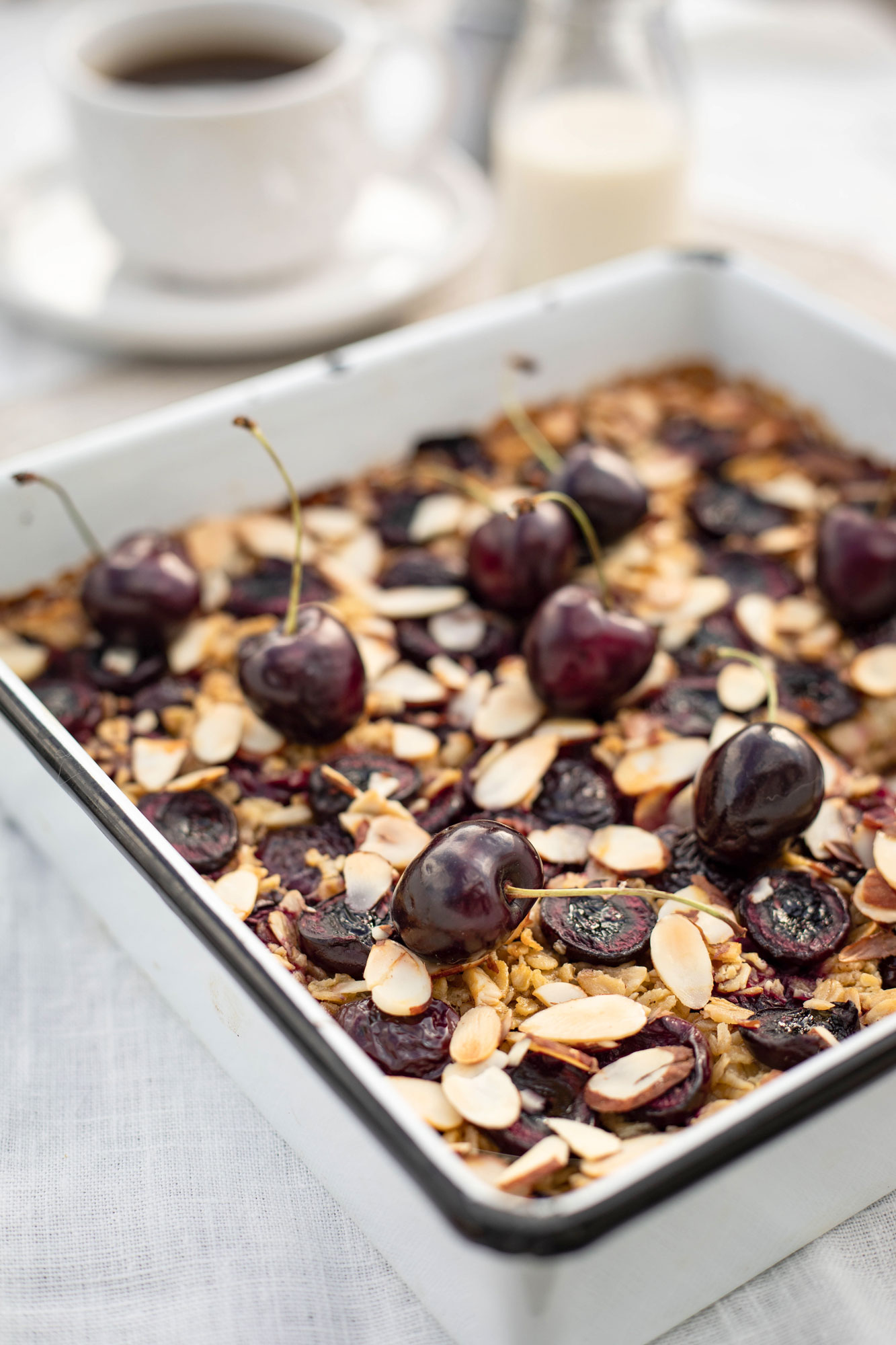 cherry and almond baked oatmeal