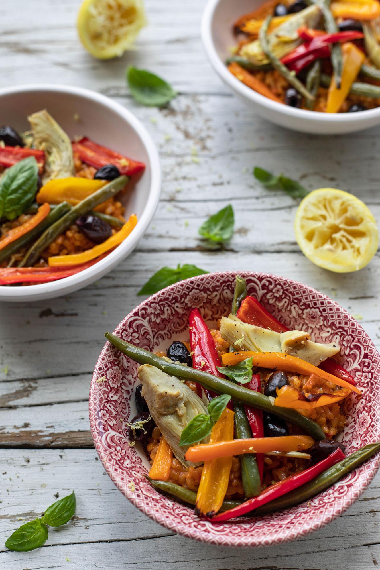 gluten free and vegan vegetarian paella