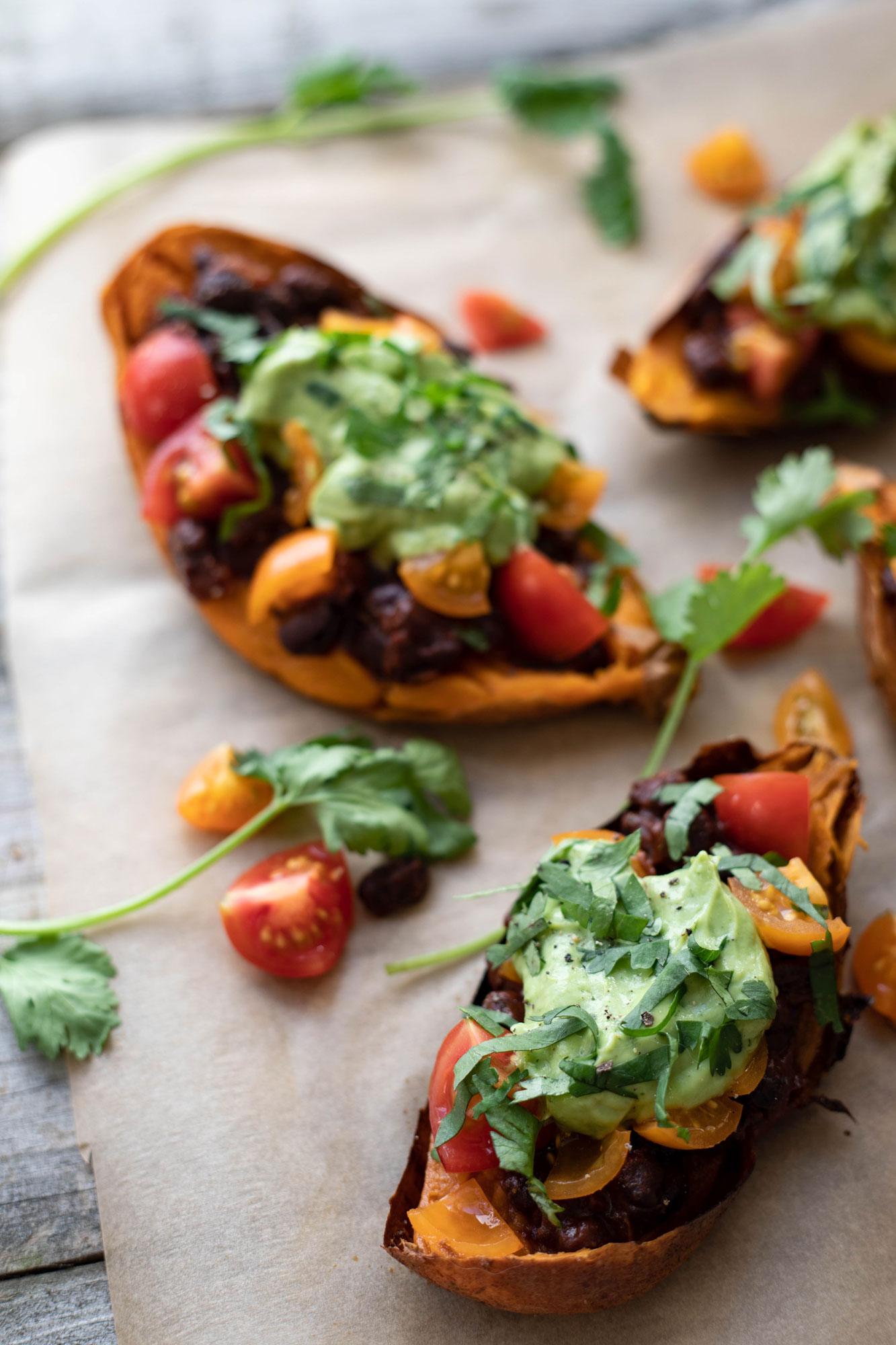 Mexican stuffed sweet potatoes (vegan and GF)