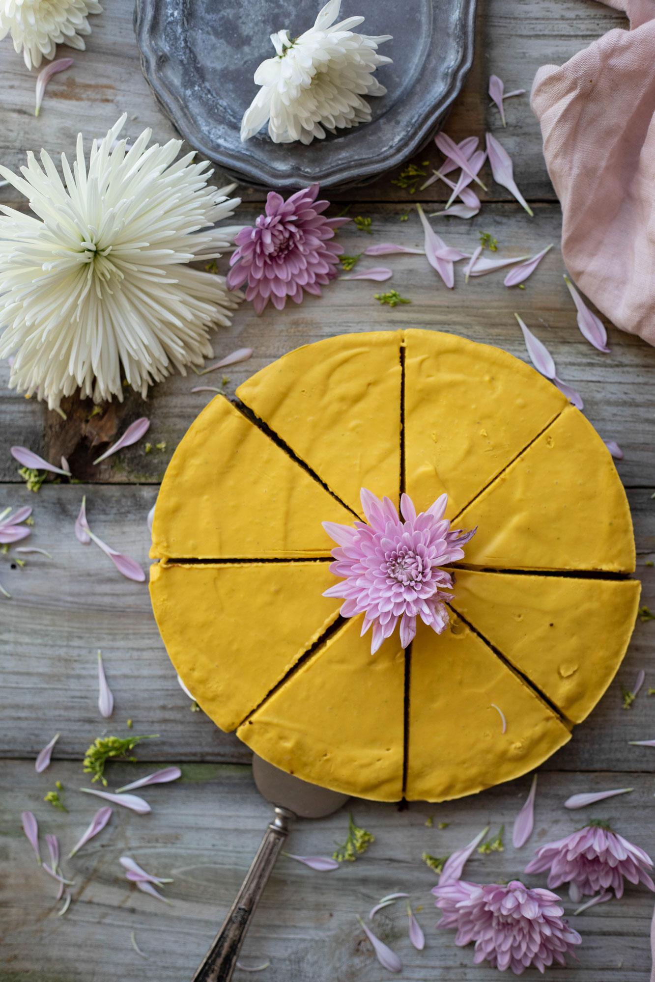 vegan and gf mango gingersnap tart from blue moon kitchen