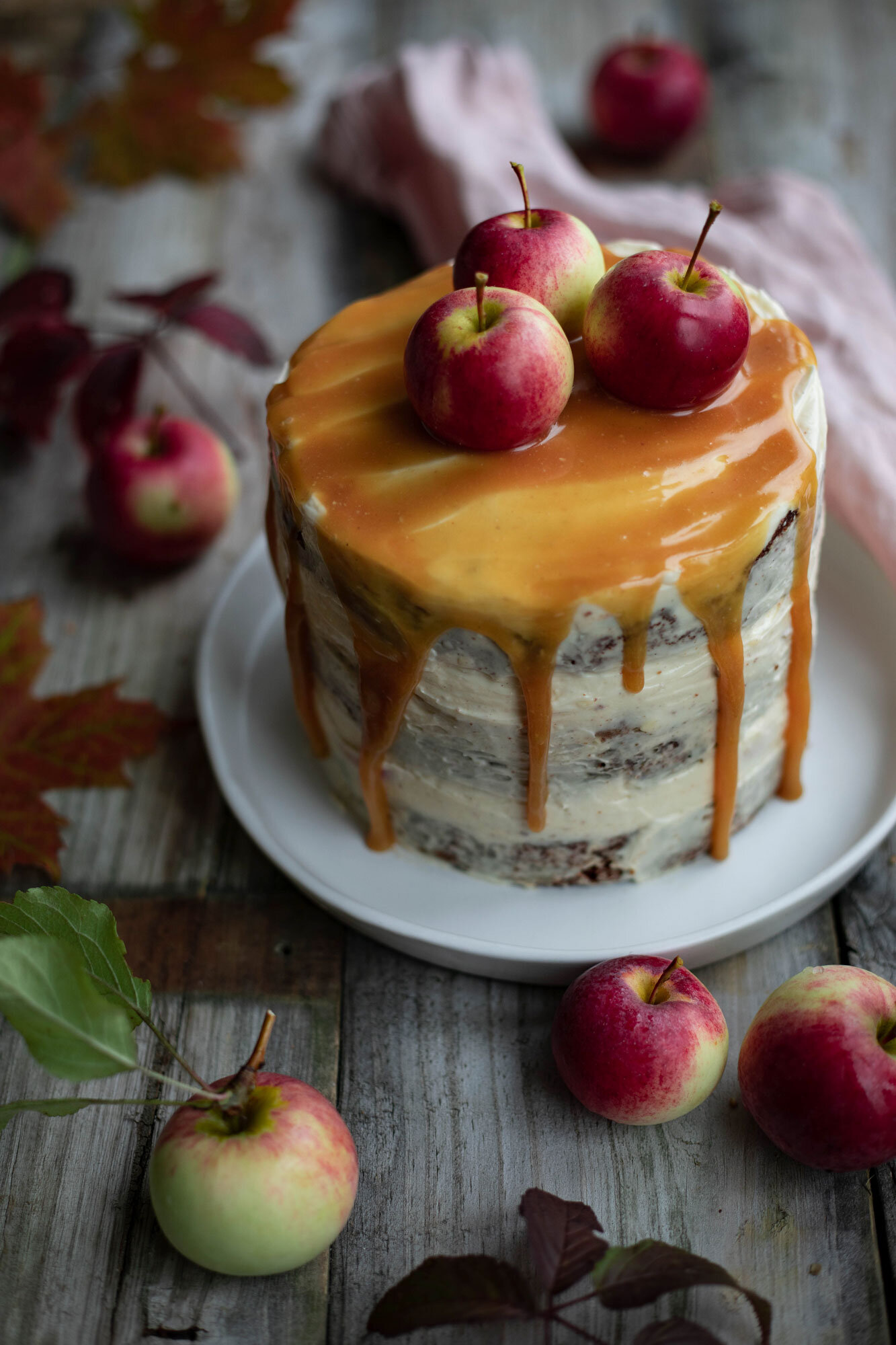 Gluten free tofee apple cake for an autumnal celebration