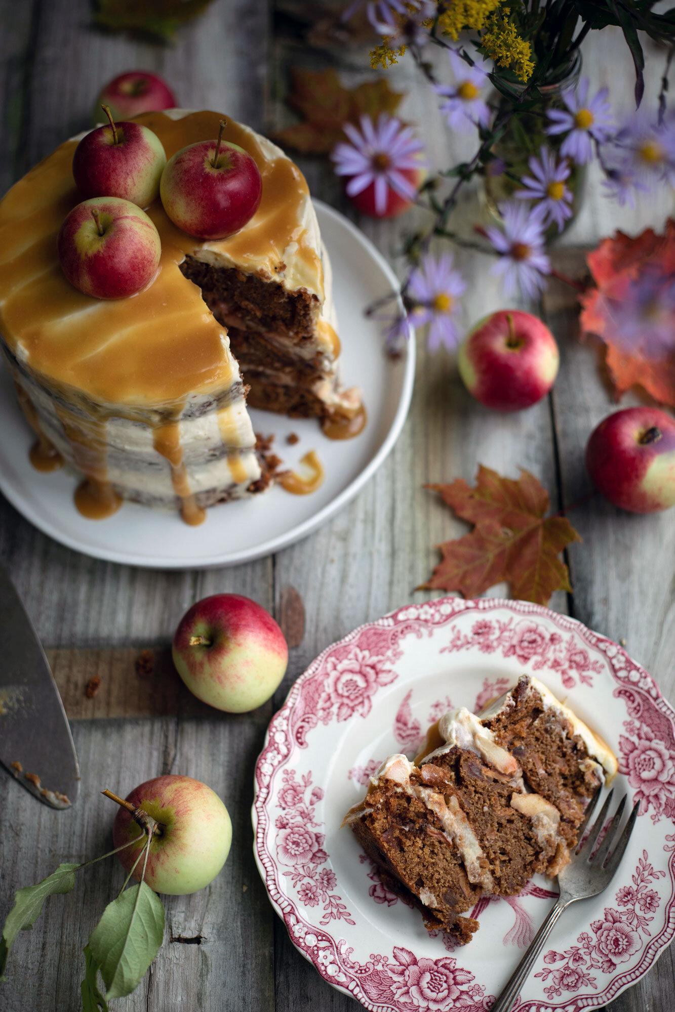 gluten free toffee apple cake