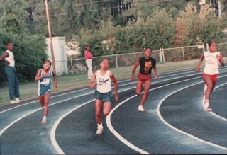 Age 9, running the 200m for the Durham Striders.