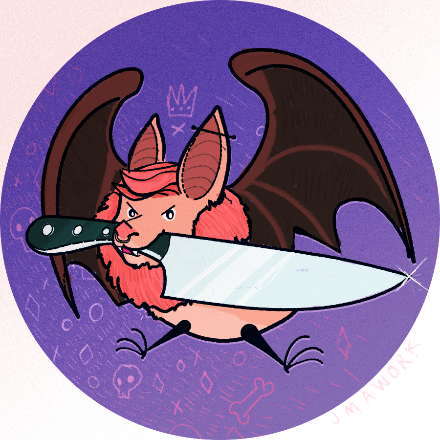 it's a knife and a bat