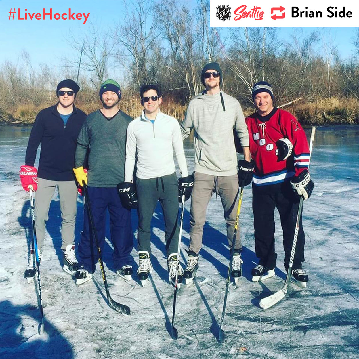 """""""When the UW arboretum freezes with just a few inches of ice #livehockey"""""""