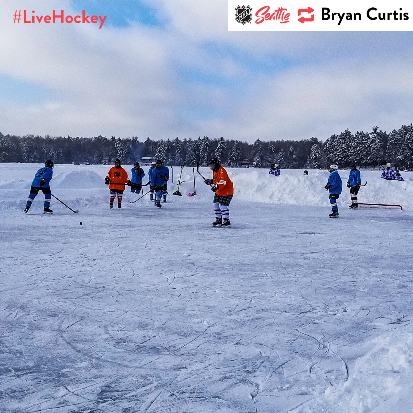 """Pond Hockey at 21 below zero in Wisconsin!"""
