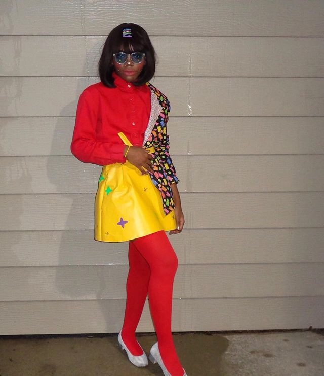 """-""""I don't know how *she* finds the time to be someone else"""" skirt and 1/2 jacket by someone named hawwaa #Raggy!"""
