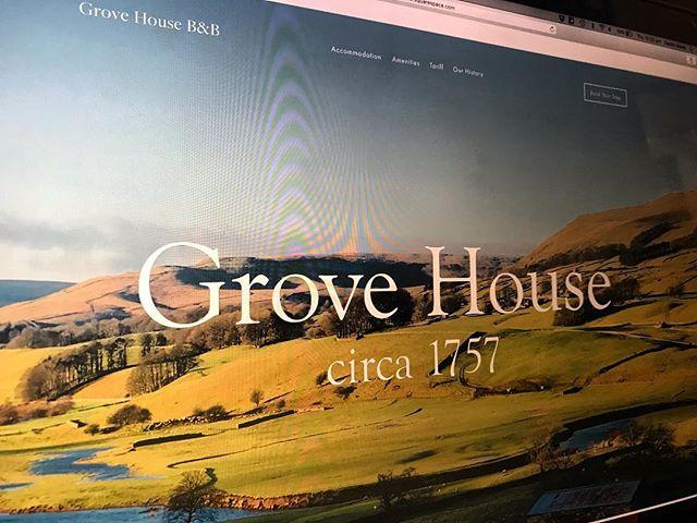 A sneak peek at our new website. #GroveHouseLeyburn #StayWithUs #Wensleydale #YorkshireDales