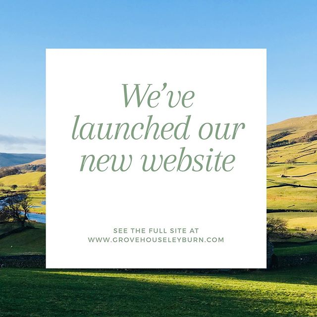 After many weeks of hard work, we're proud to introduce the new and improved Grove House website. #GroveHouseLeyburn #StayWithUs #YorkshireDales #bedandbreakfast #linkinbio