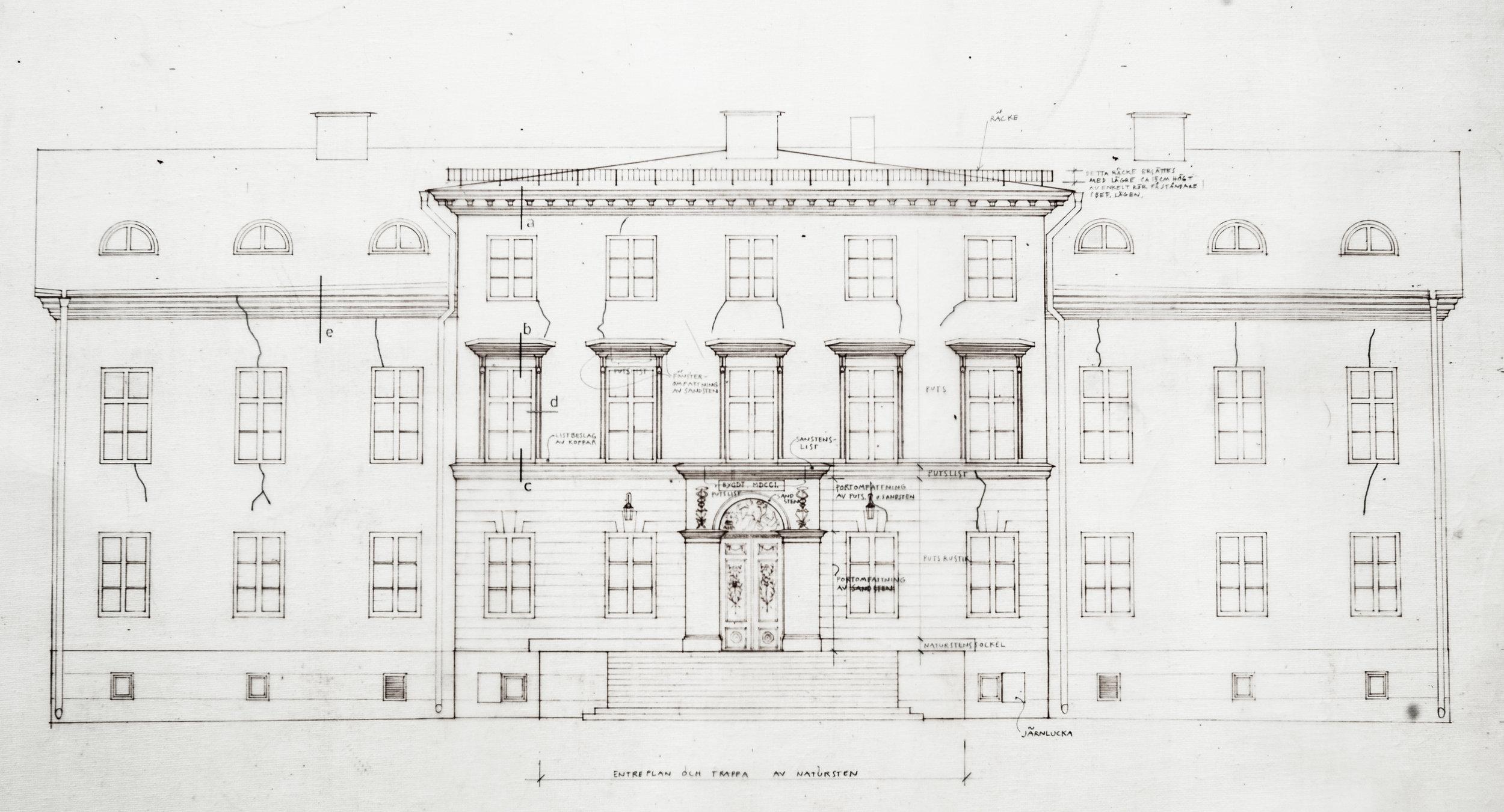 Ritning Garpenbergs Slott Anno 1801