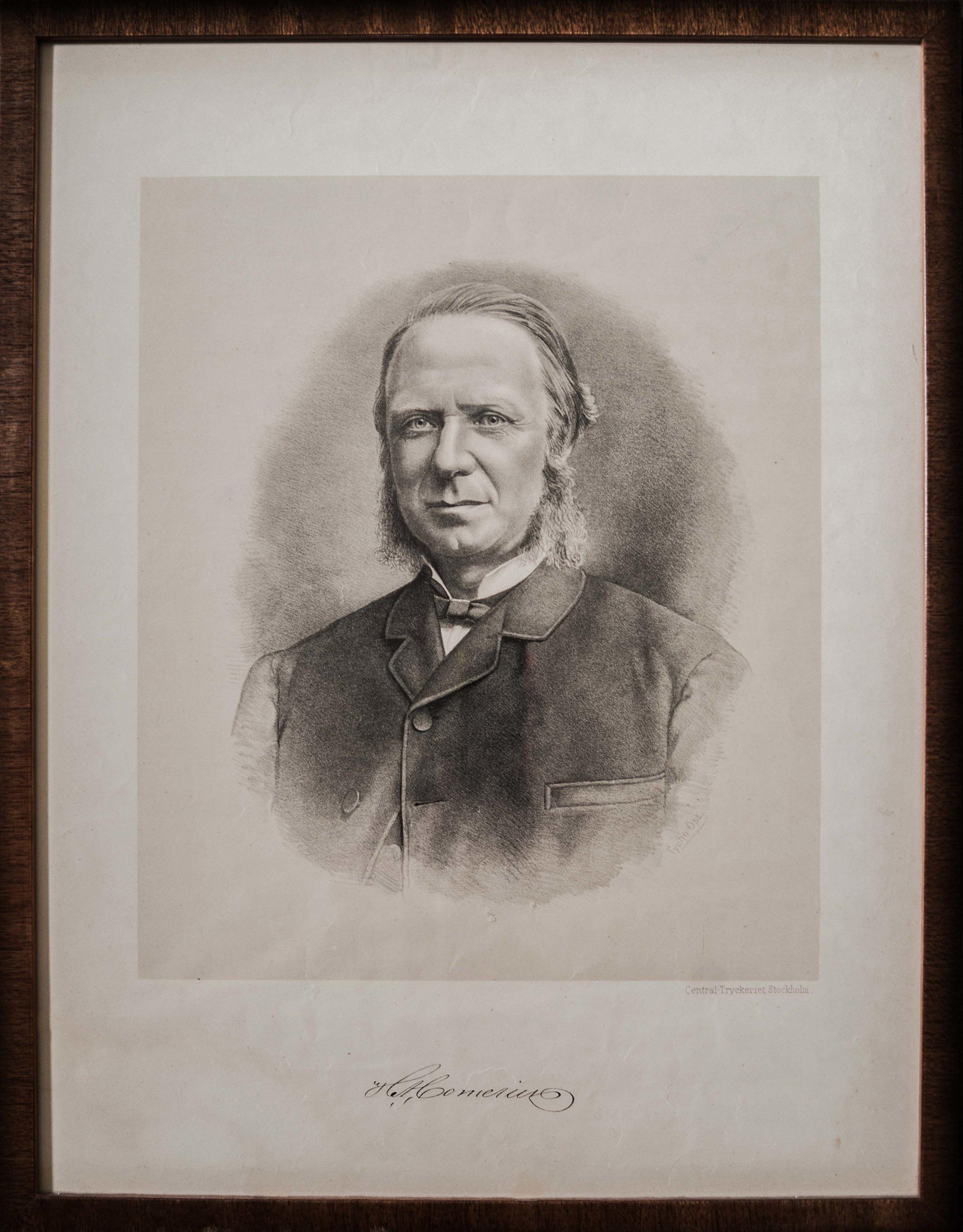 August Hampus Cornelius. Entrepreneur, dubbad riddare i Gustav Vasa Ordern