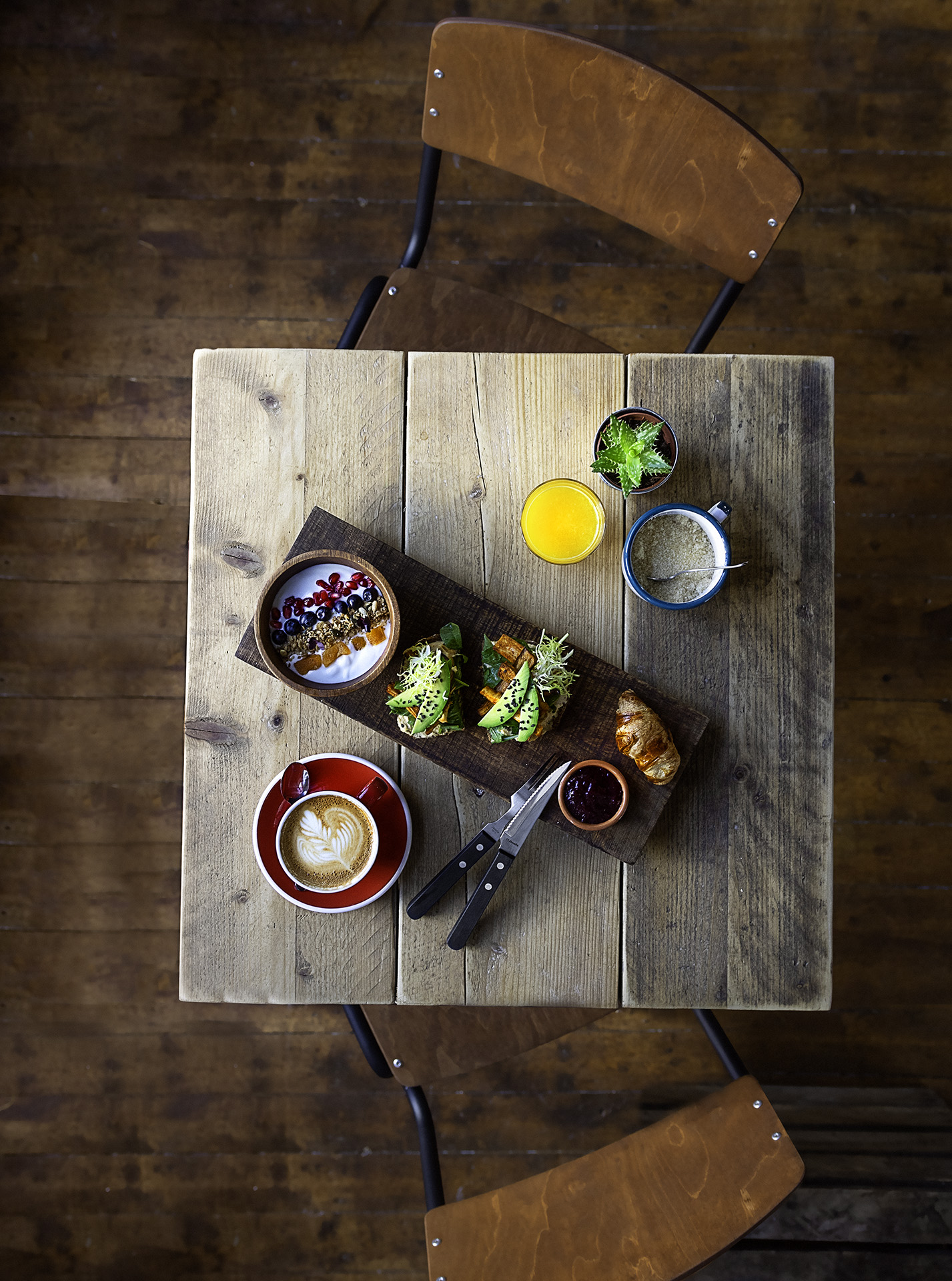 Restaurant photographer - Kamile Kave - Brunch Deal from Above at Lot Sixty One.jpg