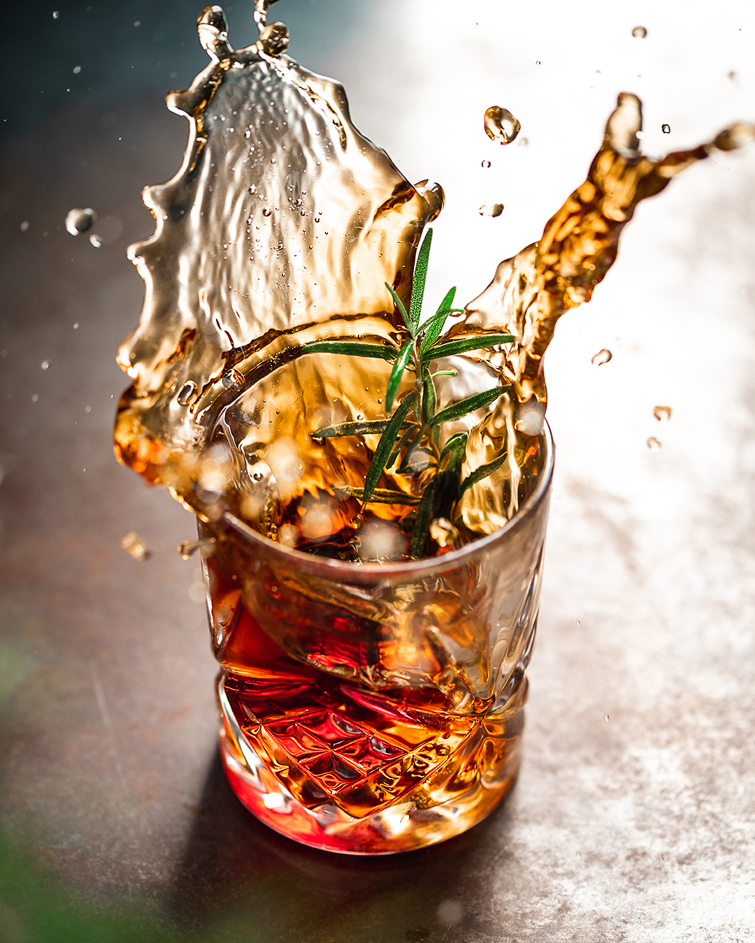 Recipe Photography - Kamile Kave - Moody whiskey action shot.jpg