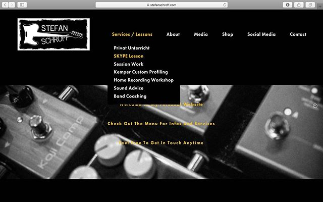 www.stefanschroff.com My new personal website is online now! Get in touch for lessons, session work etc. . . . . . . . #website #guitarlessons #guitarrecording #skypelessons #sessionguitarist #gearnerds #guitarsareawesome