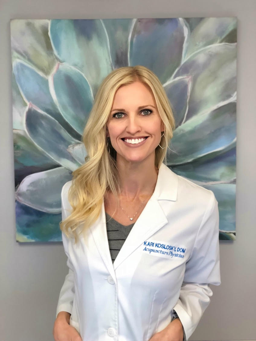 Dr. Kari Koslosky - Acupuncture is provided in our office by Dr. Kari Koslosky