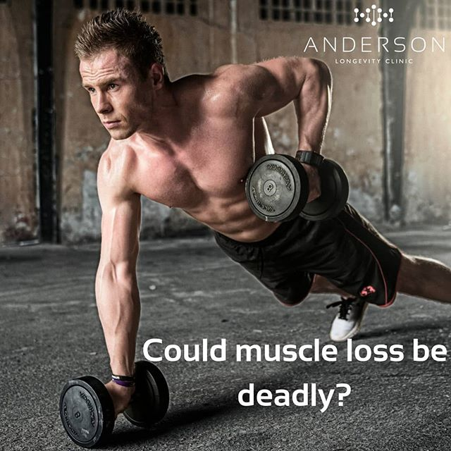 Our bodies are breaking down muscle every day.  Walking, exercising, and just living can break down muscle mass. At higher physical activity muscle breakdown is accelerated.  The key to health is how well your body responds to this breakdown. Anabolic activity is responsible for re-building muscle tissue at an optimal rate.  New research is now showing that muscle loss can lead to an early death. Your ability to gain muscle and heal from injuries can also dramatically affect your quality of life and productivity.  Sarcopenia is a term that describes the progressive loss of muscle mass and strength during aging.  So what are the solutions?  Replacing low testosterone along with resistance training has been shown to prevent the accelerated loss of muscle mass with aging.  Testosterone has also been shown to up-regulate the genes that are involved in increasing muscle mass.2  In summary, diet, exercise, and replacing low testosterone have all been shown to be highly effective at preventing this serious issue.  To learn more about Testosterone Replacement Therapy visit our website or give us a call.
