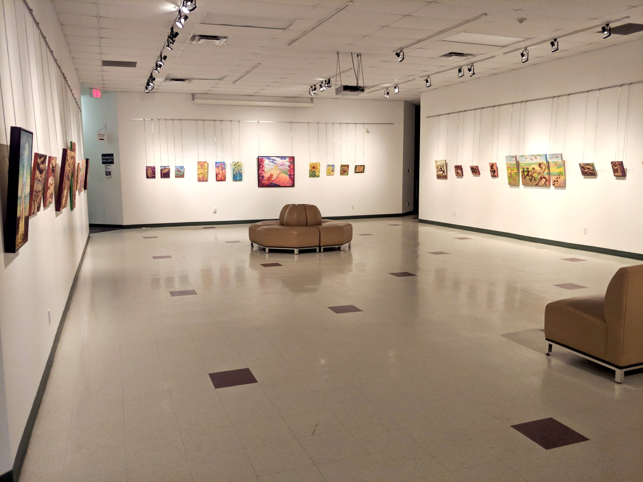 Main Gallery - The Main Gallery features a new exhibit or installation every few months, and showcases works from Manitoba and across the country. Features 200 running feet of wall space, and approximately 1700 square feet of floor space. Maximum of 100 people.