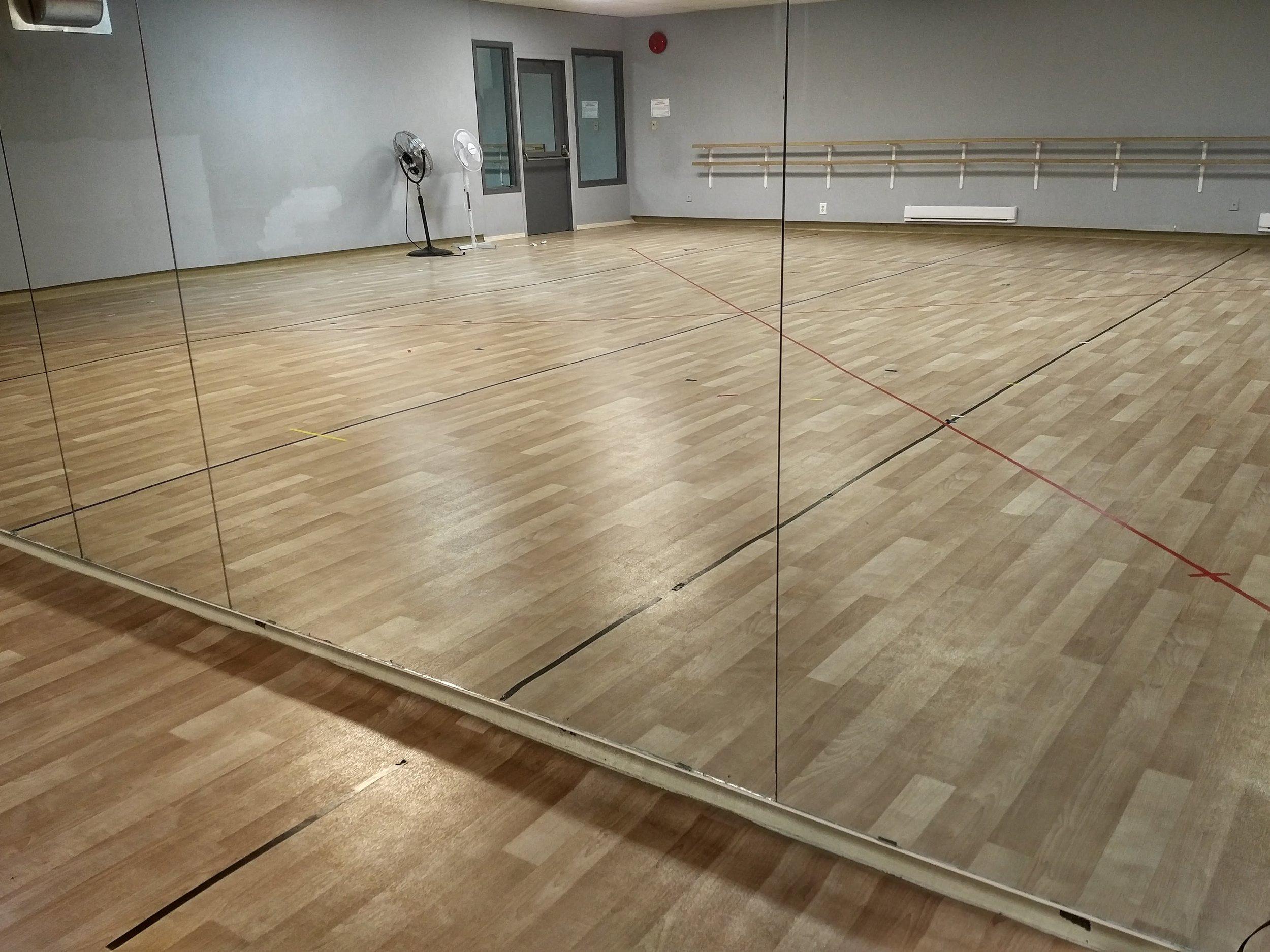 Dance Studio - The Dance Studio has wooden spring flooring, wall mirrors, ballet bars, and dedicated washrooms.