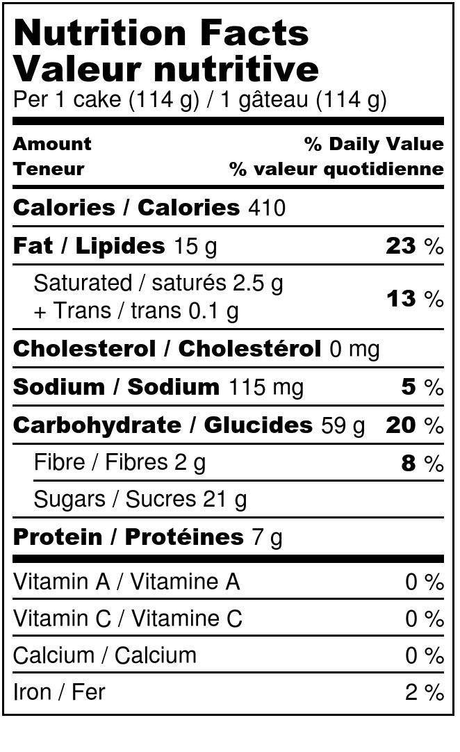peanut chocolate cake - Nutrition Label.jpg