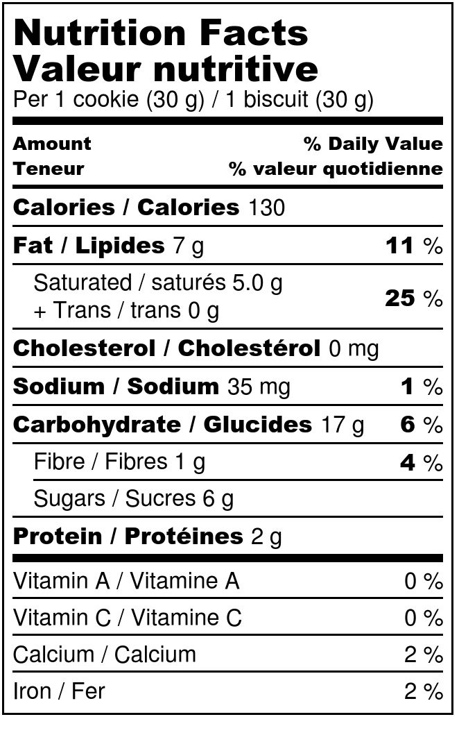 Chocolate coconut cookies - Nutrition Label.jpg