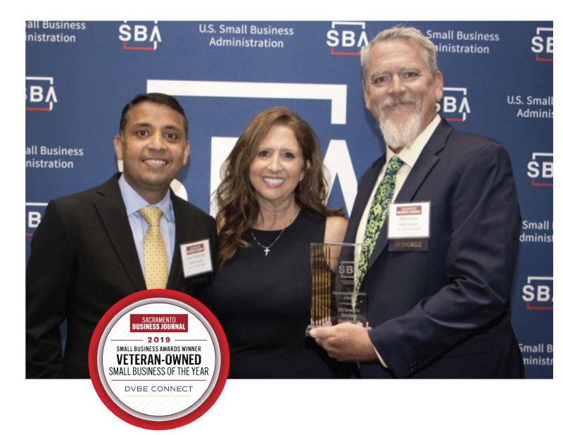 Veteran-Owned Small Business of the Year Award - In partnership with the U.S. Small Business Administration Sacramento District Office, the Sacramento Business Journal presented the Small Business Awards on May 9, 2019.
