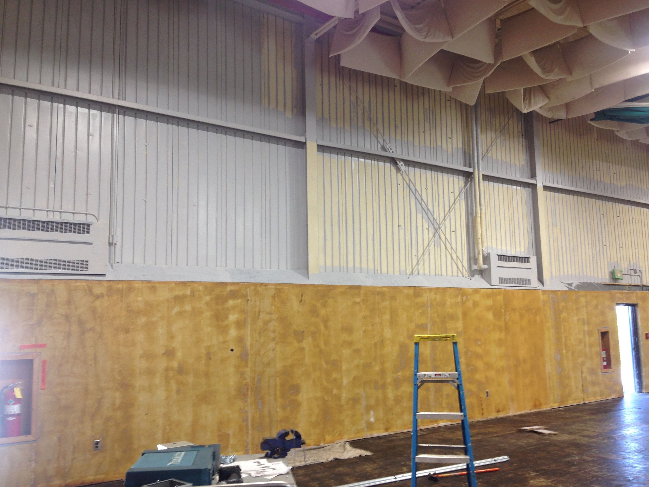 4- First coat of paint onwalls.JPG