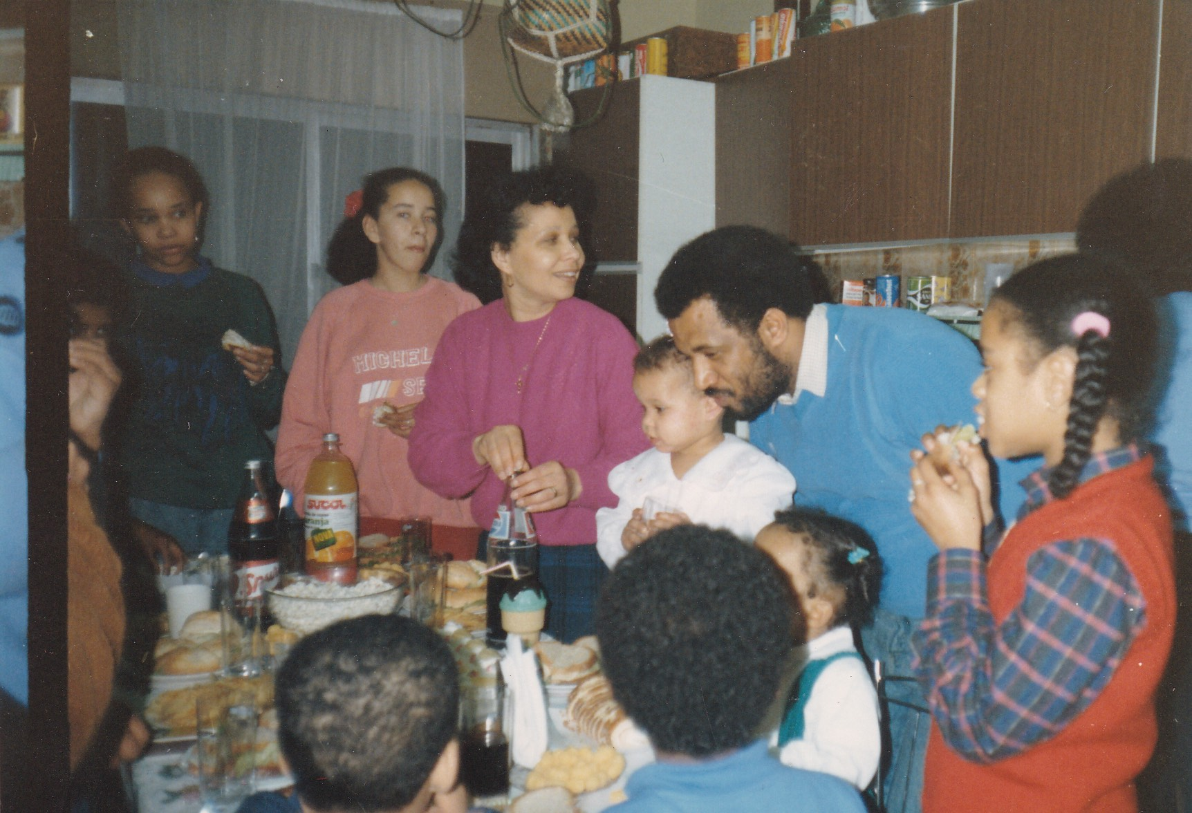 The da Graça family gathers over the kitchen table in Lisbon, Portugal in 1987 to celebrate Margarida's birthday.