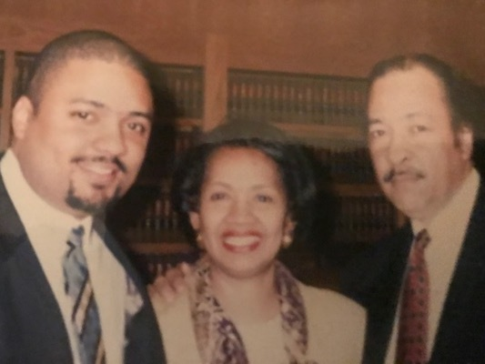 Alvin with his parents, Sadie and Alvin, Sr. at Harvard Law School Moot Court competition.