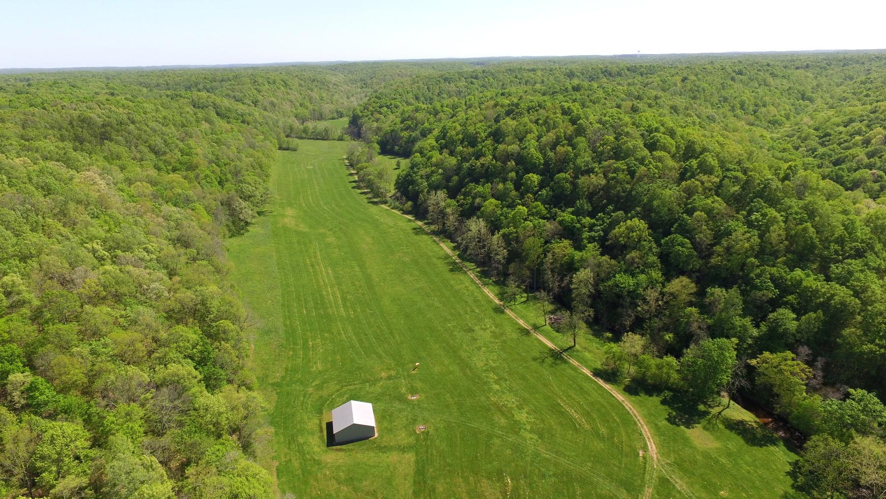 Grass Landing strip and hangar