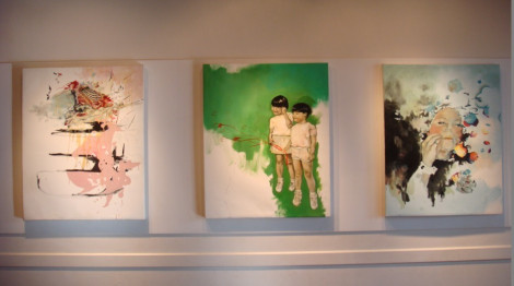 Amy Wong, Love In All The Right Places, triptych, 2004