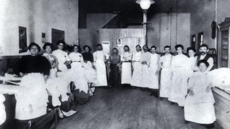 Peninou workers, Sacramento Street Store, San Francisco, 1905