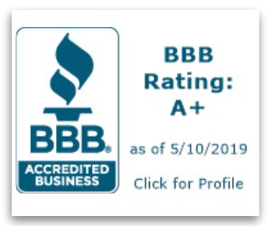 Advanced energy services BBB rating for window installation badge