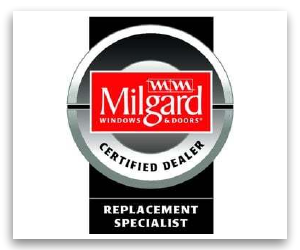 Milgard windows and doors certified dealer badge