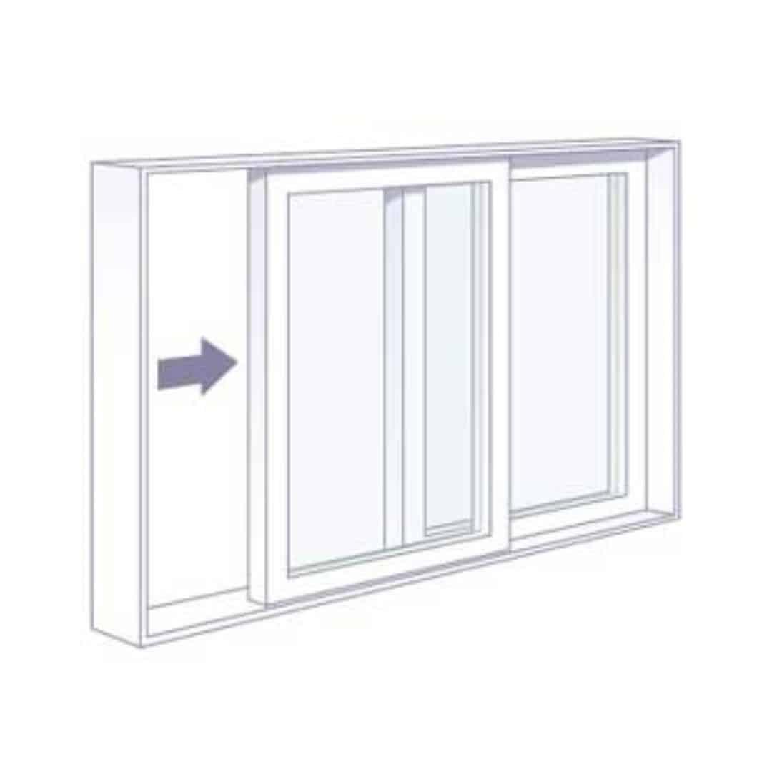 Horizontal Slider Window Diagram