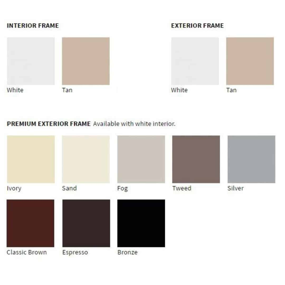Vinyl Window Frame Color Options