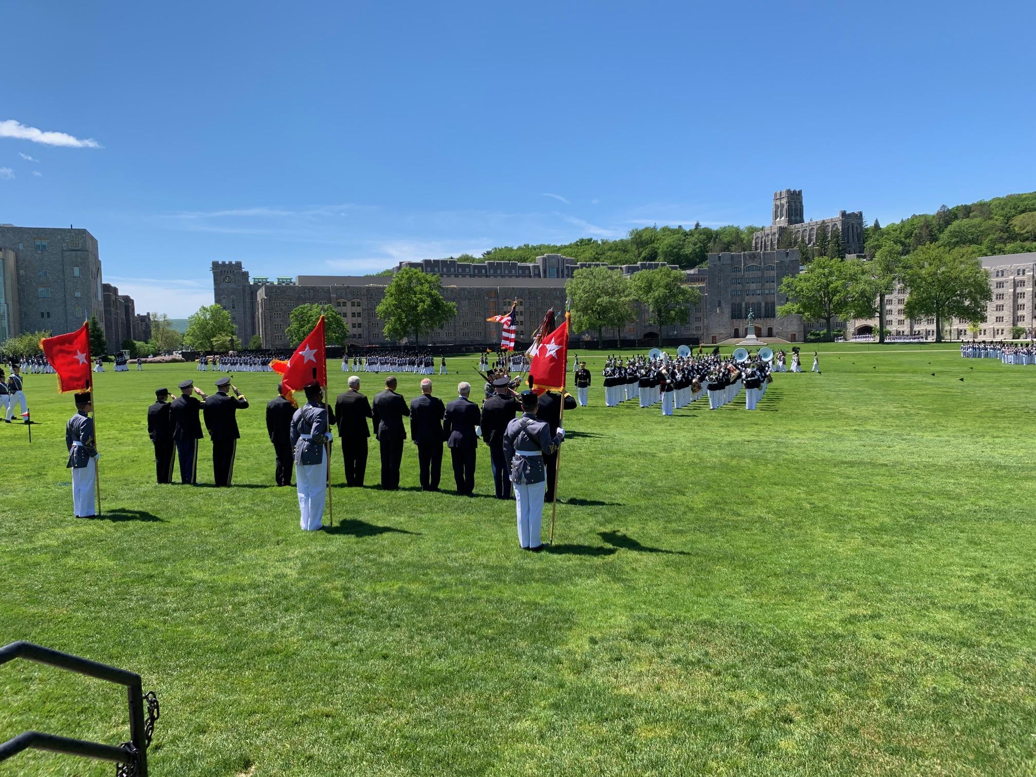 Distinguished Graduates serve as Reviewing Party