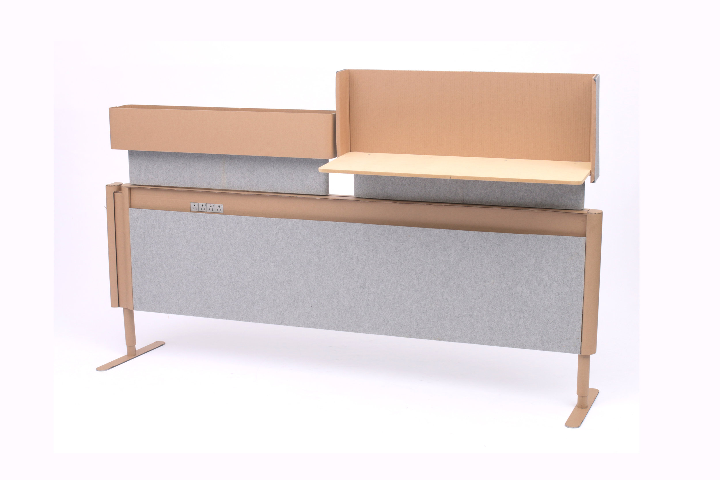 Cloud9 Rail in cardboard and recycled PET felt