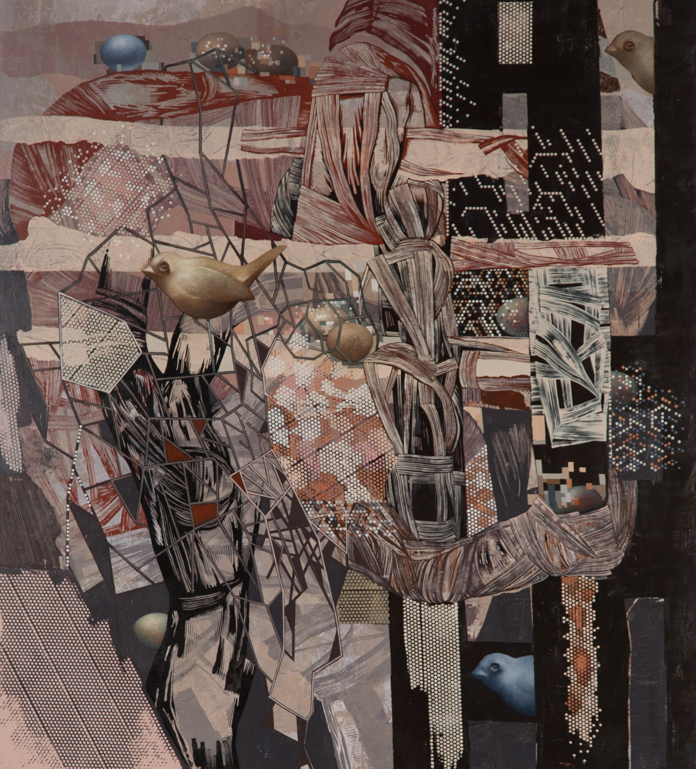 Natural Selection , 2011  Oil on canvas  40 x 36 inches