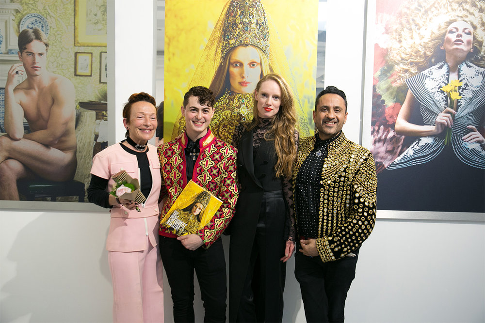 From left to right: Fashion Director Margherita Gardella, Creative Producer and Editor Daen Palma Huse, Actress and Director Bianca O'Brien, Editor in Chief and Photographer Ram Shergill