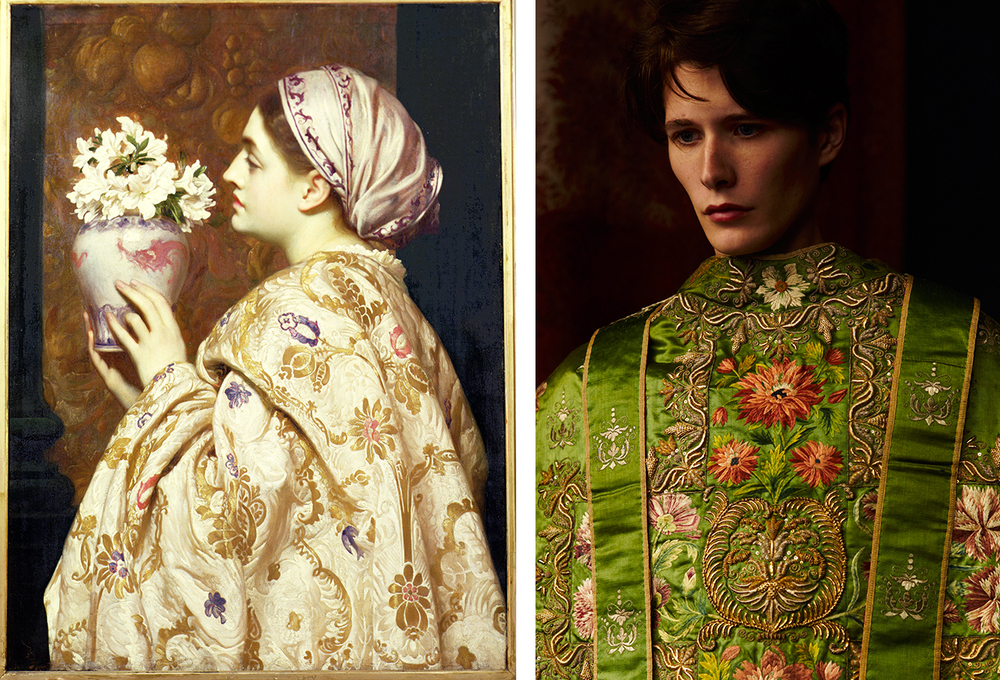 Frederic Leighton: A Noble Lady of Venice / photograph by Ram Shergill, model is wearing a 14th century garment