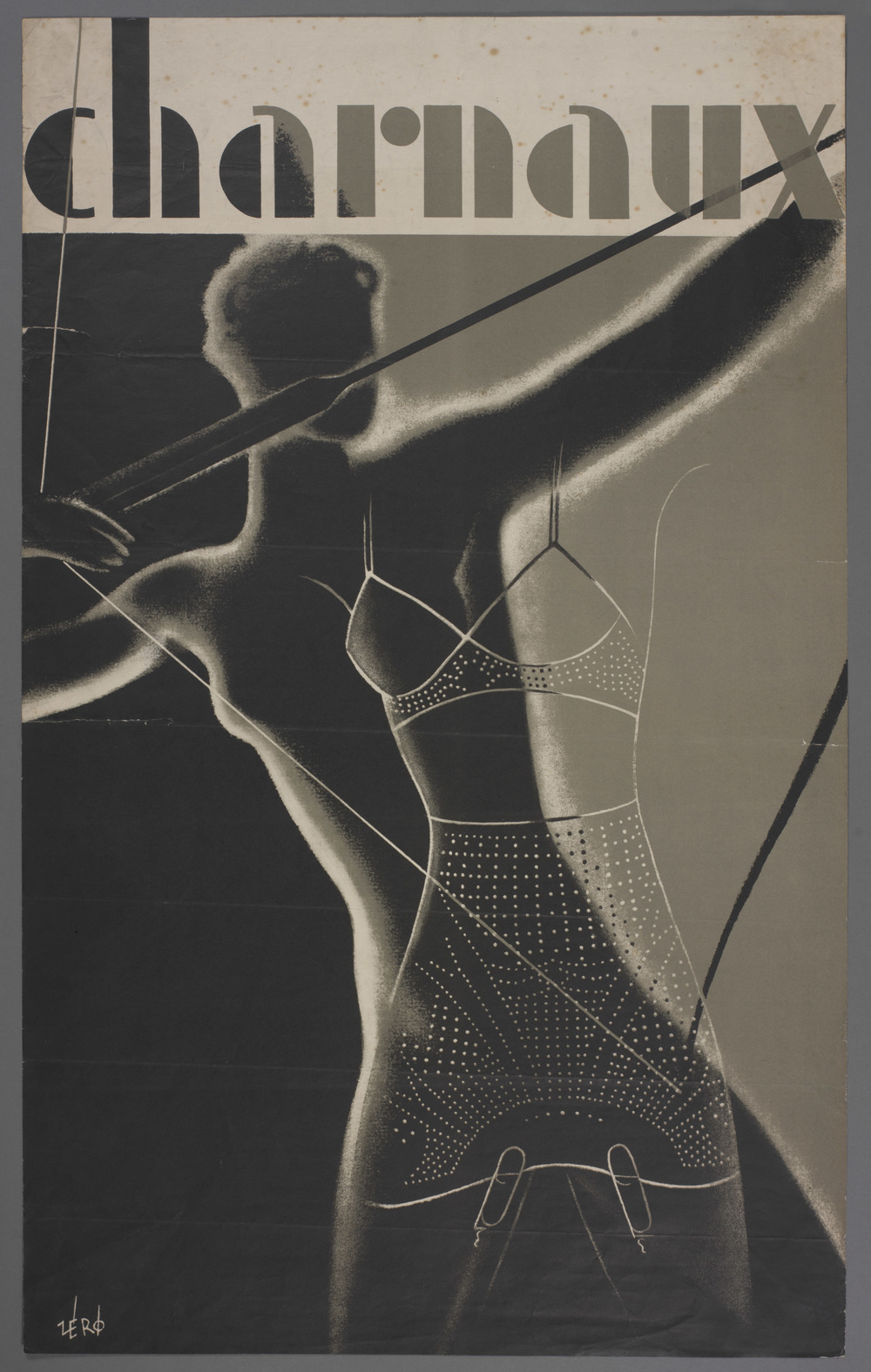 Advertising poster designed by Hans Schleger for the Charnaux Patent Corset Co. Ltd Date: c. 1936 Courtesy of the Hans Schleger Estate