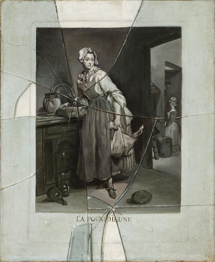 Etienne Moulinneuf after Jean-Siméon Chardin, Back from the Market (La Pourvoyeuse), about 1770, Oil on canvas, 46 × 37.9 cm, Los Angeles County Museum of Art, California, European Art Acquisition Fund, M.2007.24 © Museum Associates / LACMA