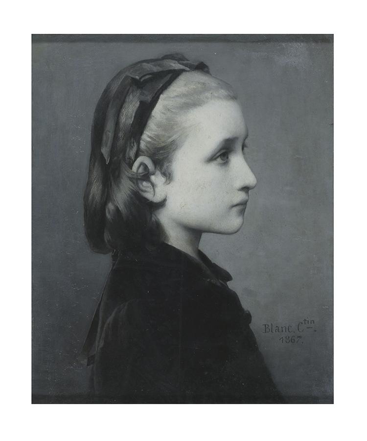 Célestin Joseph Blanc, Head of a Girl, 1867, Oil on panel, 26.7 × 21.6 cm © Victoria and Albert Museum, London