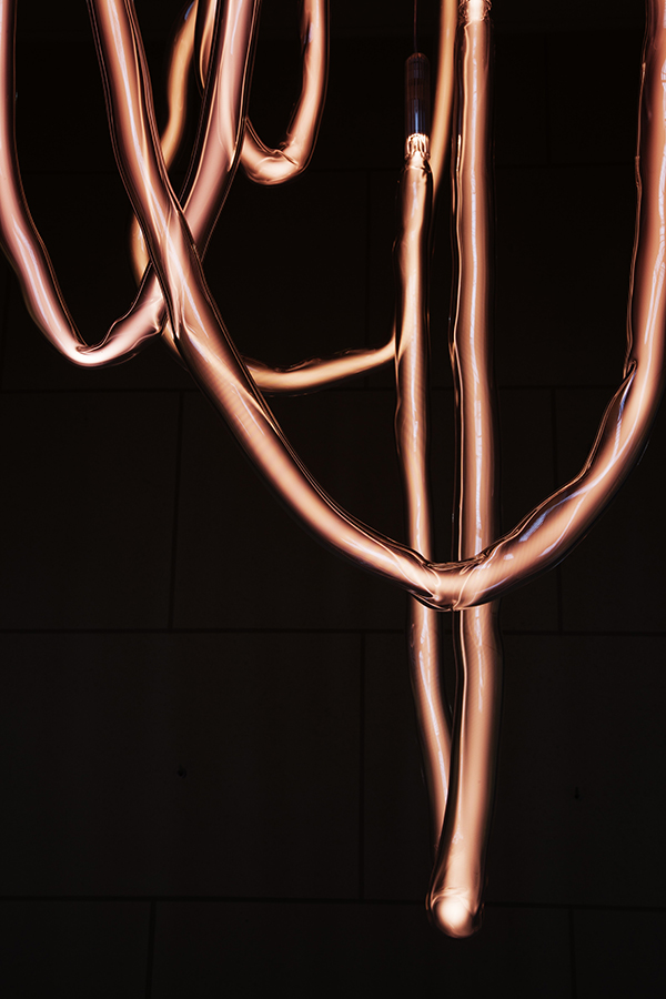 "Jochen Holz, ""Helium Neon Chandelier"""