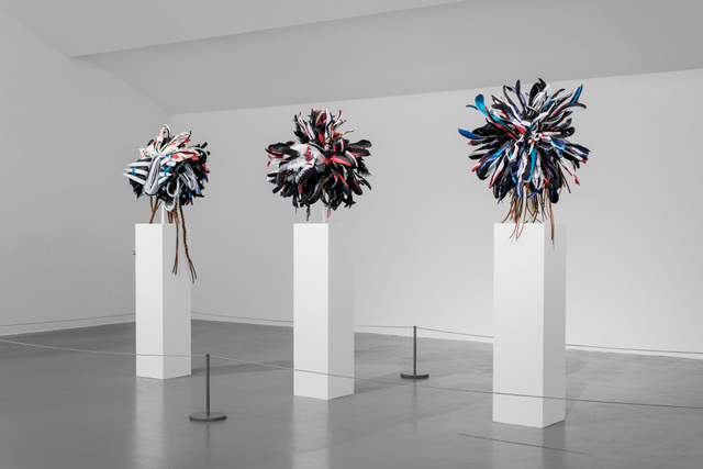 Brian Jungen,ˇWarrior 1, 3 and 4, 2017