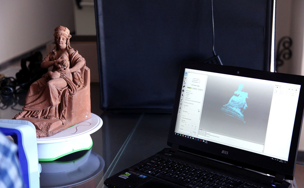 Scanning of Roman objects at Parco Archeologico di Ercolano, Courtesy of Parco Archeaologico di Ercolano and Expanded Interiors