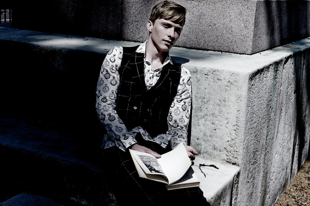 Will Tudor wears  Joshua Kane Bespoke
