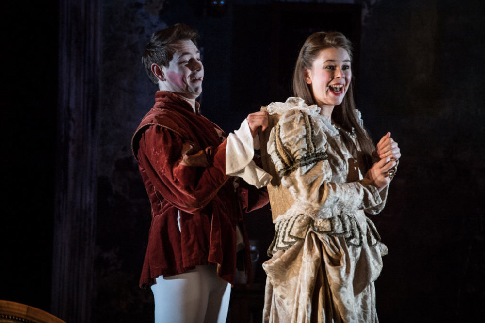 Samuel Townsend as Romeo and Kate Dobson as Sybil