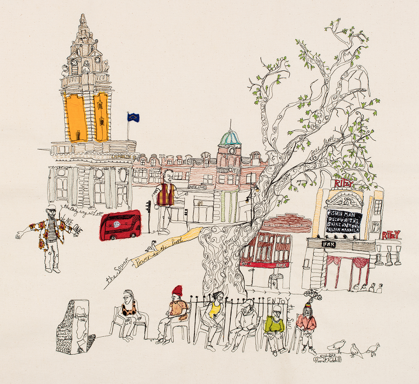 """""""We are one Brixton"""" by Harriet Riddell"""